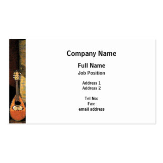 Lute Business Card Template