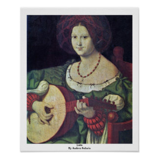 Lute By Andrea Solario Poster