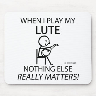 Lute Nothing Else Matters Mouse Pad