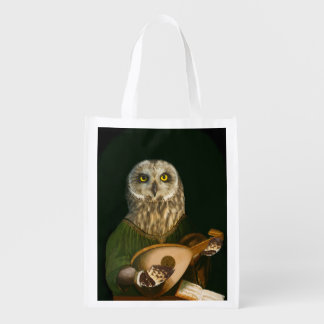 Lute-Playing Short-eared Owl - Art Spoof