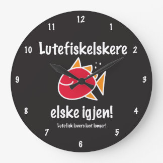 Lutefisk Lovers Last Longer Wall Clock