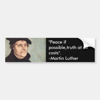 Luther Bumper Sticker