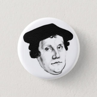 Luther head 3 cm round badge
