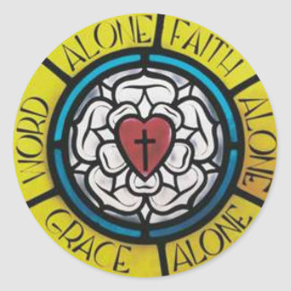 Luther Rose Classic Round Sticker