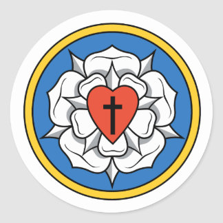 Luther's Rose Classic Round Sticker