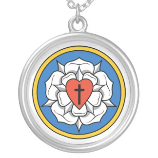 Luther's Rose Silver Plated Necklace