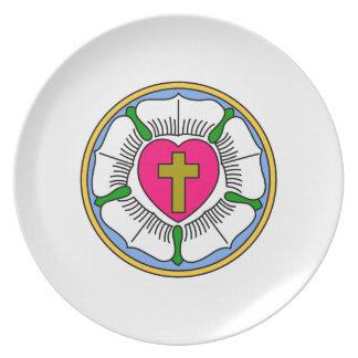 Lutheran Rose Plate