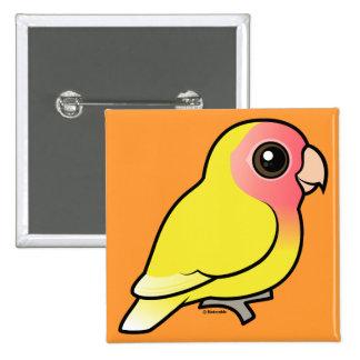 Lutino Peach-faced Lovebird 15 Cm Square Badge