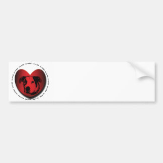 Luv-A-Bull American Bulldog Pit Bull Heart Bumper Sticker