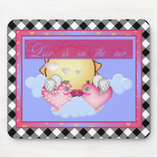 Luv Birds Pixel Art Mouse Pad