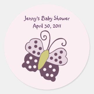 Luv Bug/Ladybug/Butterfly Sticker/Label/Seal Round Sticker