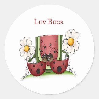 Luv Bugs Classic Round Sticker