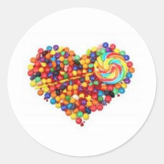 Luv Candy?!?! Round Sticker