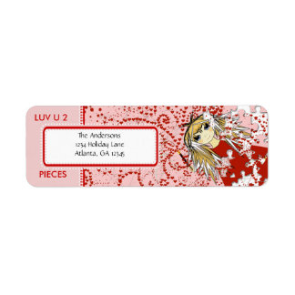 LUV U 2 Pieces  Return Address Return Address Label