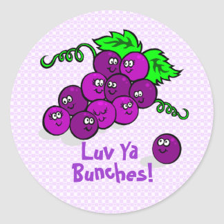 Luv Ya Bunches! Round Sticker