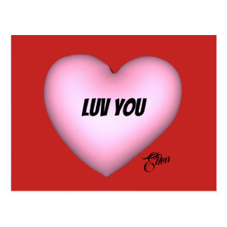 Luv You with Signature Postcard