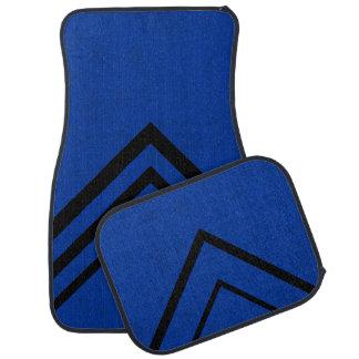 Lux Cobalt Blue Velvet Personalize or Classic Car Mat