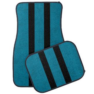 Lux Ocean Blue Color Velvet Personalize or Classic Car Mat