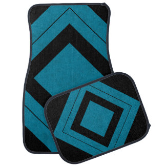 Lux Ocean Blue Color Velvet Personalize or Classic Floor Mat