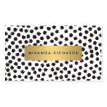 Luxe Black Confetti Dots II with Gold Bar Pack Of Standard Business Cards