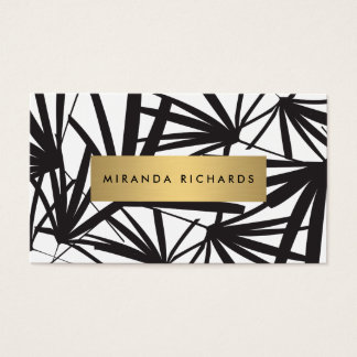 Luxe Bold Black and White Palm Leaves
