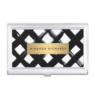 Luxe Bold Brushstrokes Card Case Business Card Holder