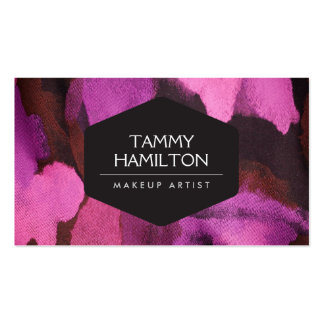 LUXE FASHION BLOGGER, MAKEUP ARTIST, PINK FLORAL PACK OF STANDARD BUSINESS CARDS