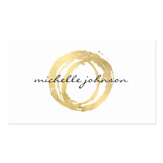Luxe Faux Gold Painted Circle Designer Logo Pack Of Standard Business Cards