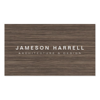 Luxe Modern Wood Architect, Furniture Designer Pack Of Standard Business Cards