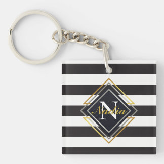 Luxe Monogram Key Ring