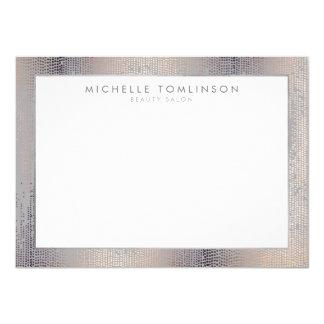 Luxe Shimmer Look Confetti Rain Gray Flat Notecard