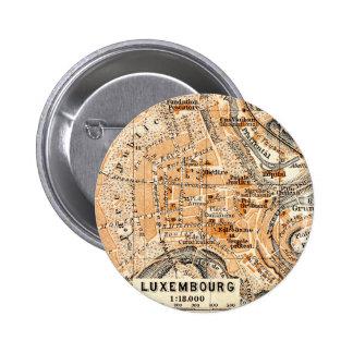 Luxembourg 6 Cm Round Badge