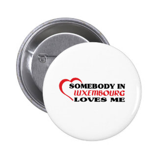 LUXEMBOURG PINBACK BUTTON