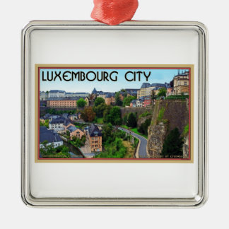 Luxembourg City Metal Ornament