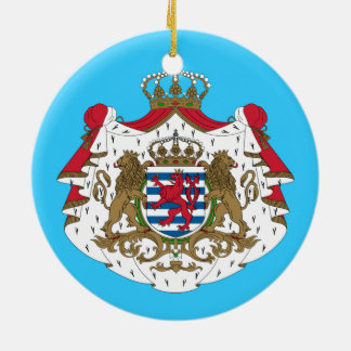 Luxembourg* Coat of Arms Ceramic Ornament