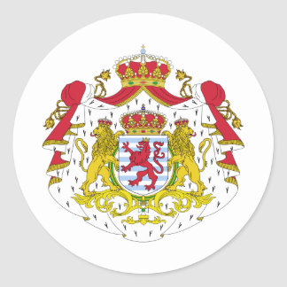 Luxembourg coat of arms classic round sticker