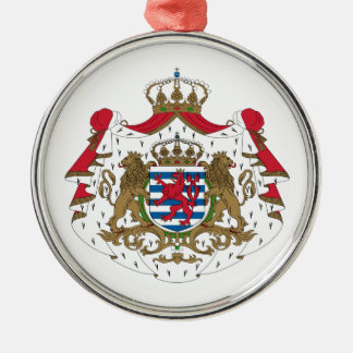 Luxembourg Coat Of Arms Metal Ornament