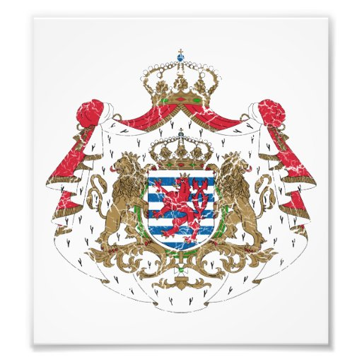 Luxembourg Coat Of Arms Art Photo