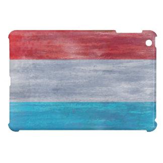 Luxembourg distressed flag iPad mini cases