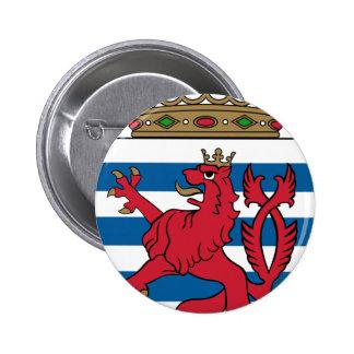 luxembourg emblem 6 cm round badge
