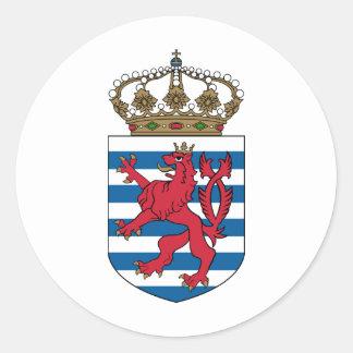luxembourg emblem classic round sticker