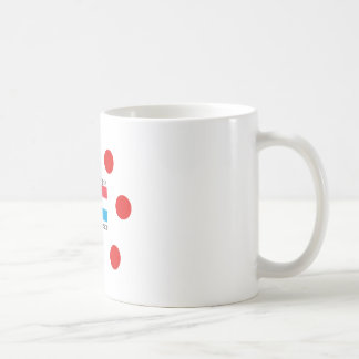 Luxembourg Flag And Luxembourgish Language Design Coffee Mug