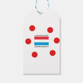 Luxembourg Flag And Luxembourgish Language Design Gift Tags