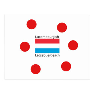 Luxembourg Flag And Luxembourgish Language Design Postcard