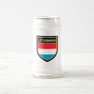 Luxembourg Flag Beer Stein