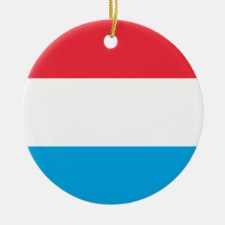Luxembourg Flag Ceramic Ornament