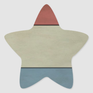 Luxembourg Flag (grunged) Star Stickers