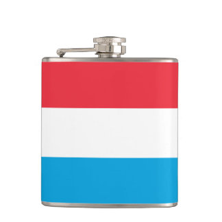 Luxembourg Flag Hip Flask