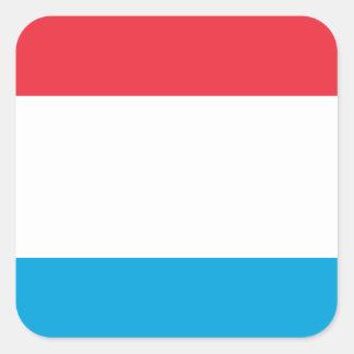 Luxembourg Flag - Lëtzebuerger Fändel - Drapeau Square Sticker