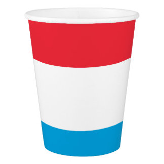 Luxembourg Flag Paper Cup